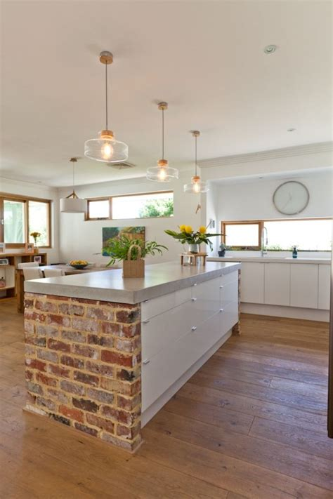 the brick kitchen island 60 refreshing ideas for white kitchens renoguide 6047
