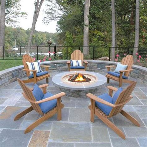 outdoor patios with pits garden and lawn outdoor adirondack chairs teak adirondack chairs with cushions and fire pit