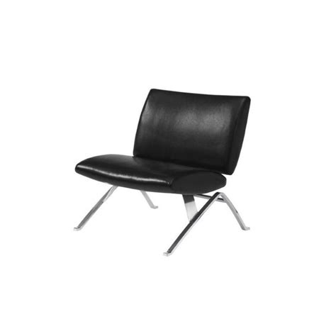 modern black accent chair modern faux leather accent chair in black i 8073
