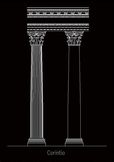 corinthian column dwg detail  autocad designs cad
