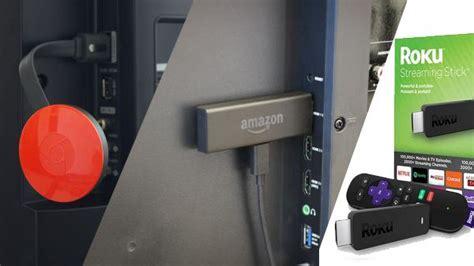amazon fire tv stick  chromecast  roku
