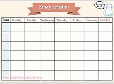 Printable study schedule shared by denisse on We Heart It