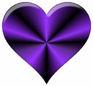 Dark Purple Heart Clipart - ClipartXtras