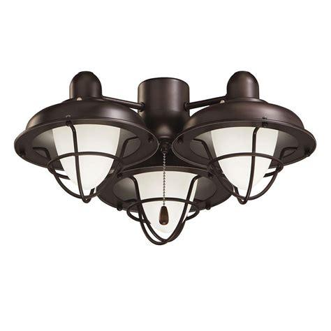 bronze ceiling fan light kit illumine zephyr 3 light oil rubbed bronze ceiling fan