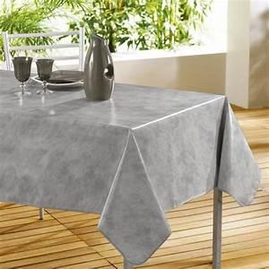 Nappe Rectangulaire Grise : nappe pvc rectangulaire 240x140 beton cire gris achat ~ Teatrodelosmanantiales.com Idées de Décoration