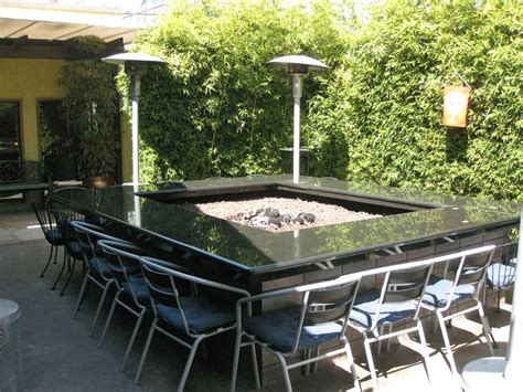 fire pit bar table seating with firepit outdoor spaces pinterest