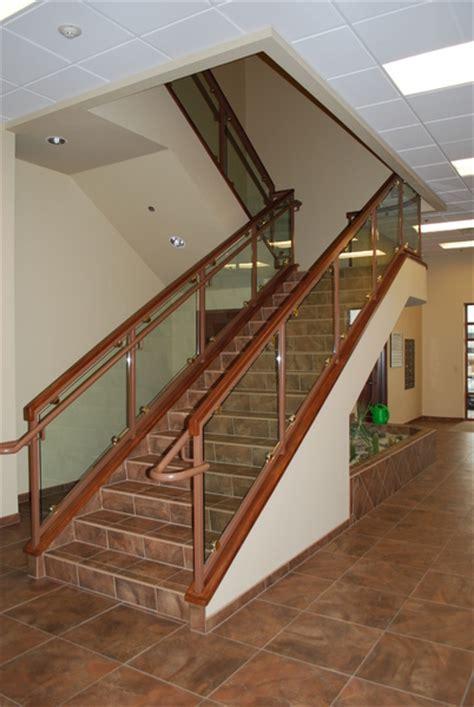 Wood And Metal Stair Railing   plantoburo.com