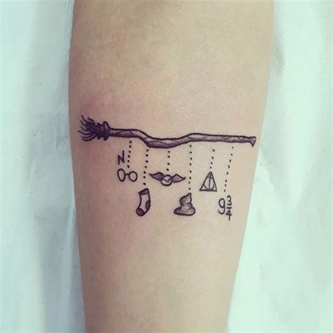 cool  magical harry potter inspired tattoos