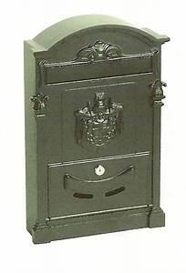 Boite Aux Lettres Grise : boite plaquer eco grise fonte d 39 alu boite aux lettres ~ Dailycaller-alerts.com Idées de Décoration
