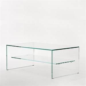 Table Basse Verre Design : zen 1 table basse adentro verre trempe extra clair table basse ~ Teatrodelosmanantiales.com Idées de Décoration