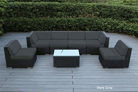 beautiful outdoor patio wicker furniture seating 7pc