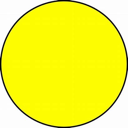 Circle Yellow Clipart Clip Background Clker Cliparts