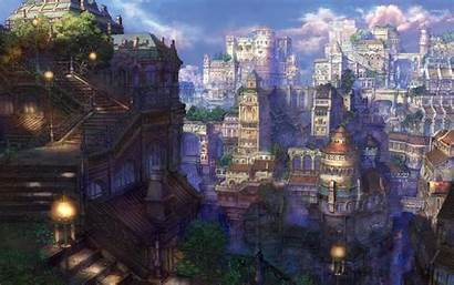 Anime Town Wallpapers Castle Dark Background Backgrounds