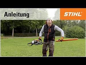 Benzin Heckenschere Stihl : eine stihl benzin heckenschere transportieren youtube ~ Frokenaadalensverden.com Haus und Dekorationen