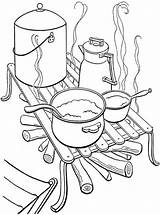 Kampvuur Camping Coloring Koken Campfire Cooking Kamperen Kleurplaat Sheets Lagerfeuer Kochen Truck Kleurplaten Ausmalbilder Votes sketch template