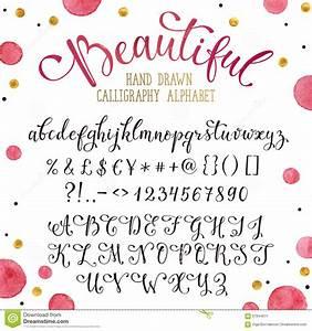 La Centrale Alphabet : police tir e par la main de calligraphie illustration de vecteur image 67844611 ~ Maxctalentgroup.com Avis de Voitures
