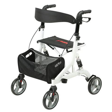 walker seat rollator folding adult walkers drive wheels senior medical euro usa brakes rollators accessories elenker locking cane holder fold