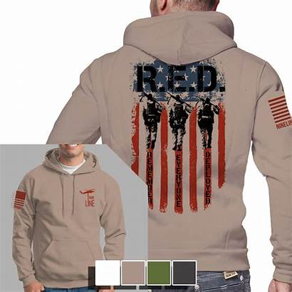 Line Nine Apparel Hoodie Remember Deployed Everyone