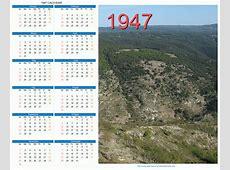1947 Calendar