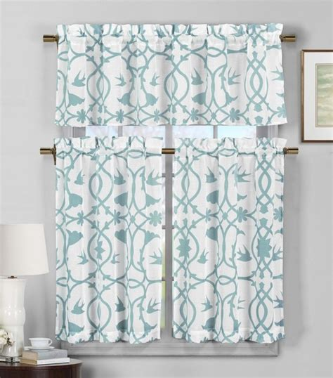 basement window treatment ideas 3 semi sheer window curtain set teal blue and white