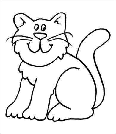 cat coloring page    jpg format   premium templates