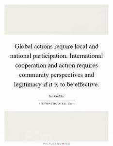 Global Communit... International Cooperation Quotes