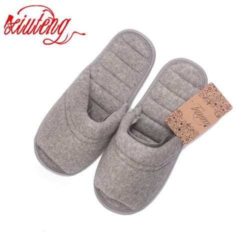 xiuteng spring towels cotton indoor slippers women home slippers line pressing soft bottom