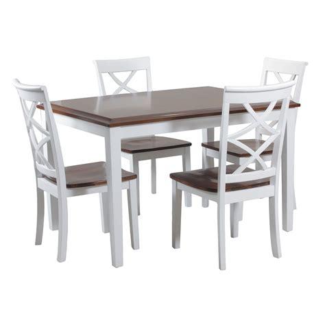 31659 two tone dining table adorable meja makan putih meja makan minimalis meja makan 4