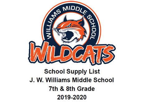williams middle school homepage