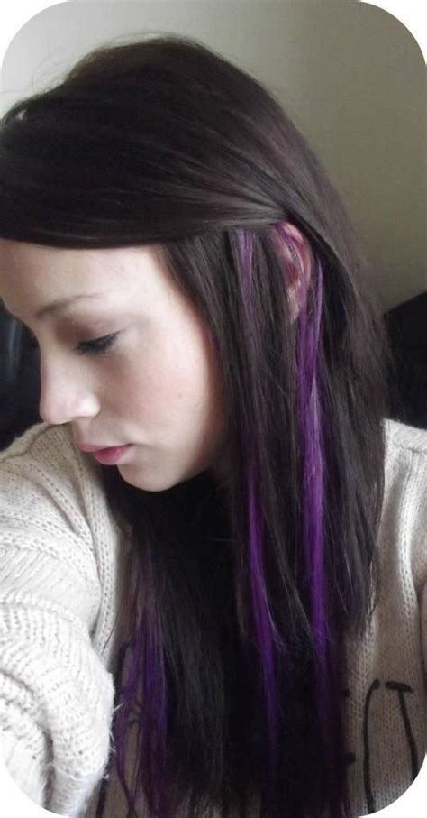 Purple Streaks In My Hair Iand Clip In Highlight