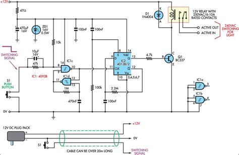 Low Voltage Remote Mains Switch Circuit Diagram