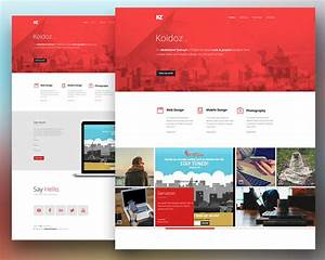 download free creative personal website template free psd With free personal website templates