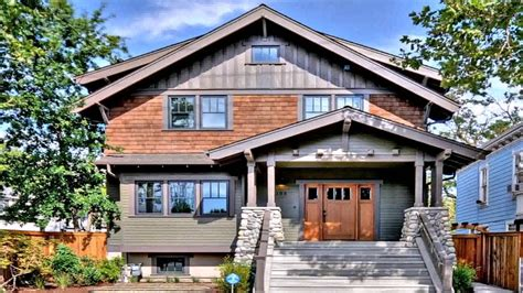 craftsman bungalow house plans  attached garage  description youtube