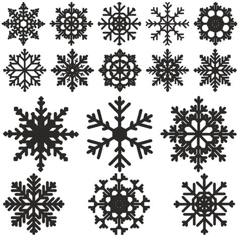 Download your free svg cut file and create your personal diy project with these beautiful quotes or designs. Snowflake vector Free Vector cdr Download - 3axis.co