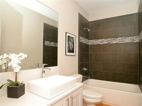 Best Modern Bathroom Tile by This Modern Bathroom Features A Tile Tub Surround With