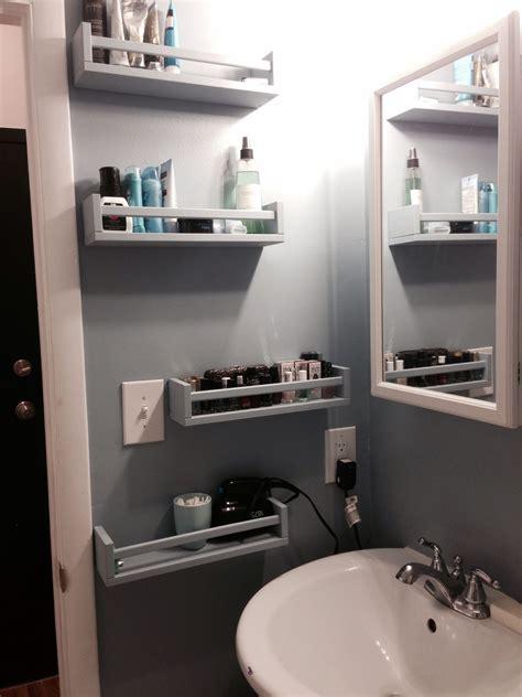 bathroom storage ideas ikea ikea bekvam spice racks as bathroom storage apt