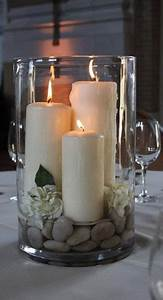 Silberne Schale Dekorieren : simple zen centerpieces candles my favorite pinterest deko dekoration und dekorieren ~ Watch28wear.com Haus und Dekorationen