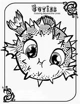 Coloring Pages Cuties Cute Pet Creative Blowfish Littlest Animal Printable Cutie Print Fish Disney Adult Lps Animals Sheets Unique Coloringtop sketch template