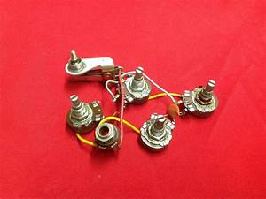 Vintage 1962 Usa Gibson Guitar Wiring Harness Pots Melody
