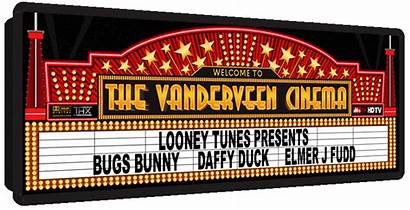Hollywood Marquee Theater Marquees Sign Graphic Theme