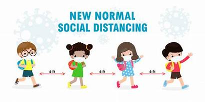 Distancing Social Mask Covid Wearing Children Normal