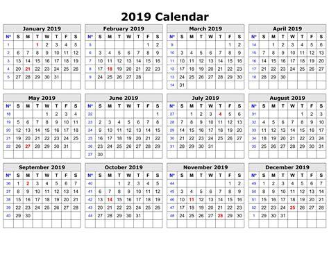 2019 Calendar Holidays Usa, India, Uk, Canada, Australia