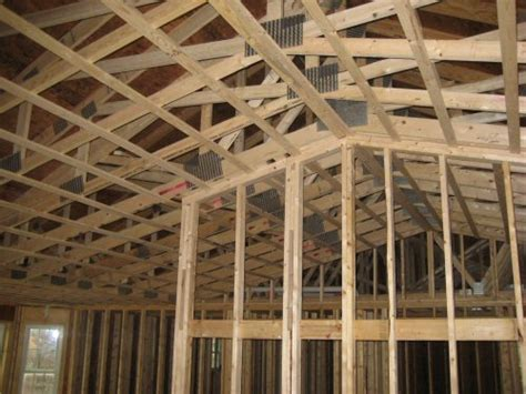 Ceiling Joist Span For Drywall by How To A Ceiling Before Installing Drywall One