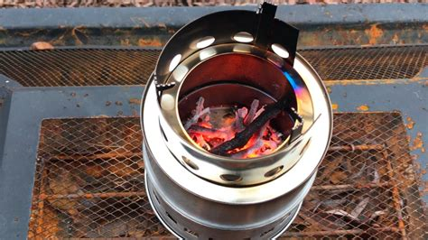 Portable, Stainless Steel, Camping, Backpacking, Wood Burning Cooking Stove By Sam Young Review 3000 Sq Ft Pellet Stove Griddle Top Avalon Prices Kitchen Gas Wood Inserts Frigidaire Cleaning Pilot Double Burner For