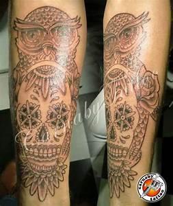 Tatouage Chouette Signification : tatouages des cr nes t te de mort projets faits par ~ Melissatoandfro.com Idées de Décoration