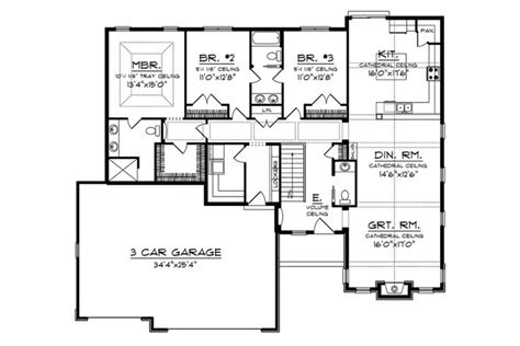 Craftsman Style House Plans With Basement by 17 Best Images About Ranch Walkout Basement On