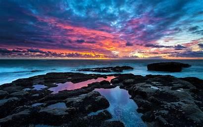 Sea Landscape Clouds Desktop Backgrounds Wallpapers