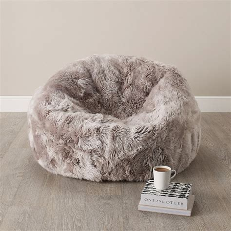 finds sheepskin beanbag homegirl