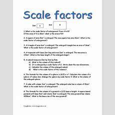 Scale Factors, Similarity And Congruence  Doingmaths  Free Maths Worksheets