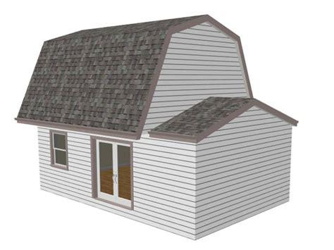 g455 gambrel 16 x 20 shed plan